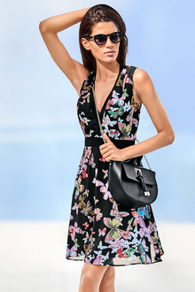 Heine V-neck Printed Dress