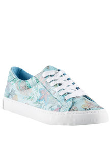 Wide Fit Floral Lace Up Sneaker