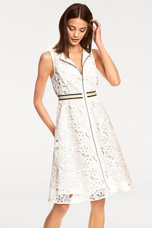 Heine Zip Front Lace Dress
