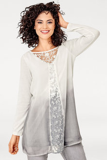 Heine Ombre Lace Detail Top
