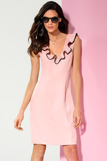 Heine Ruffle Neck Dress