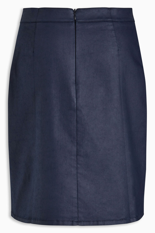 Next Navy Coated A Line Skirt Online | Shop EziBuy