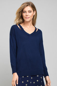 Capture Neck Detail Jumper