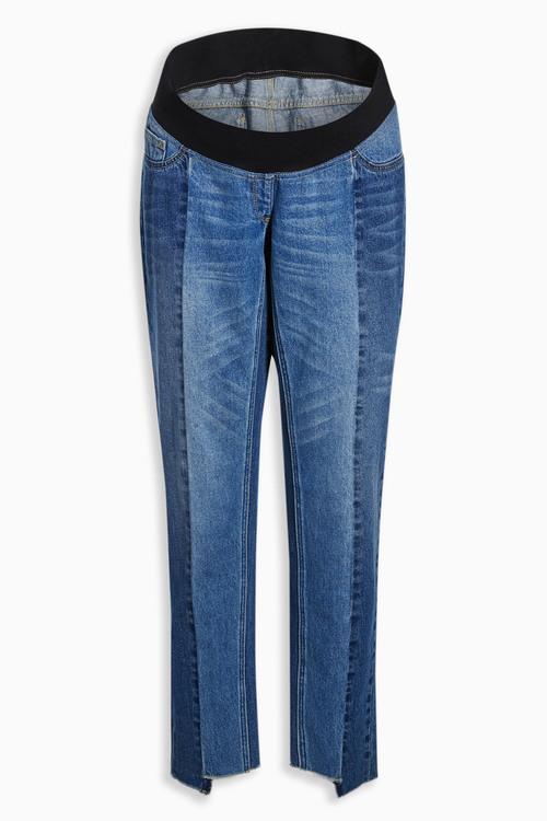 Next Mid Wash Maternity Seam Jeans