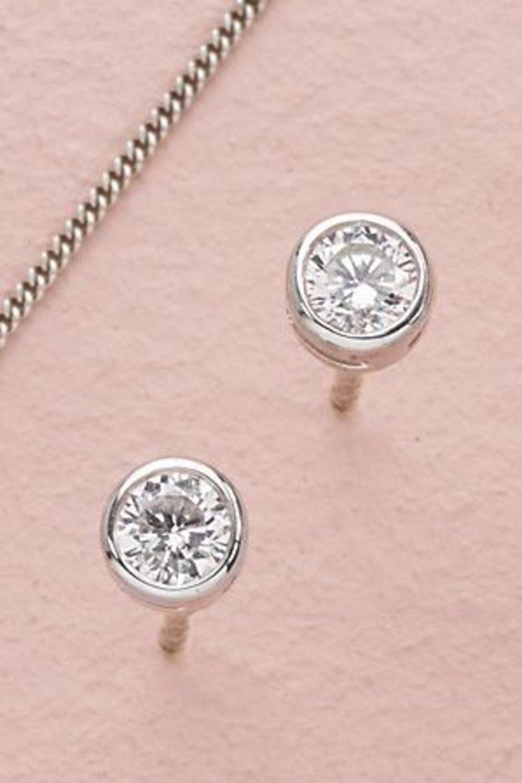 f4096c788 Next Sterling Silver Cubic Zirconia Solitaire Studs Online | Shop EziBuy