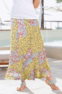 Together Printed Crinkle Skirt