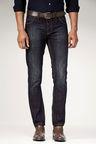 Next Dark Wash Belted Jeans -Slim Fit