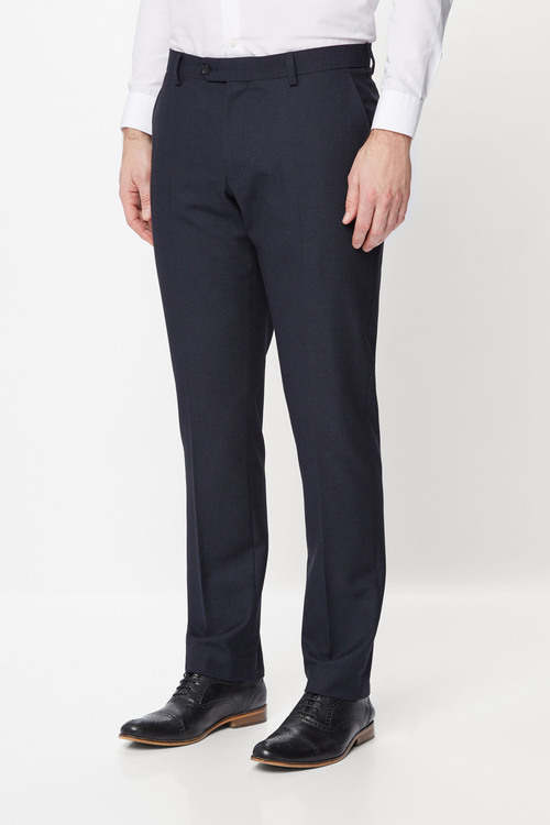 Next Textured Birdseye Suit Trousers