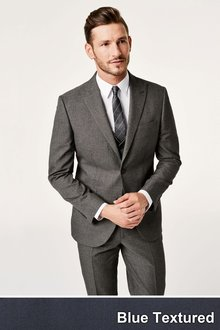Next Textured Birdseye Suit Trousers - 172912