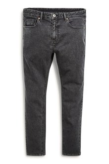 Next Dark Grey Jeans With Stretch