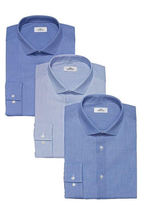 Next Regular Fit Shirts Three Pack