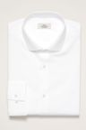 Next Cotton Mini Collar Shirt - Slim Fit Single Cuff