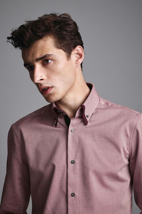 Next Double Collared Shirt -Regular Fit Single Cuff
