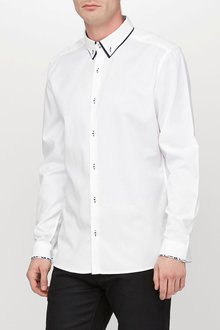 Next White Double Collar Shirt