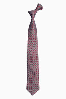 Next Burgundy Signature Link Pattern Tie