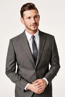 Next Textured Birdseye Suit Waistcoat