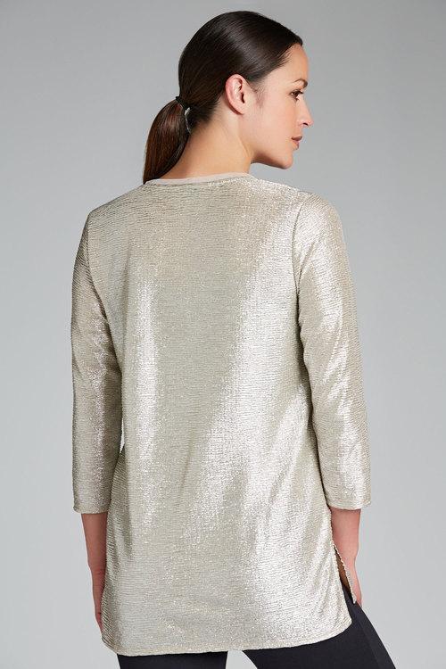 Grace Hill Metallic 3/4 Sleeve Top