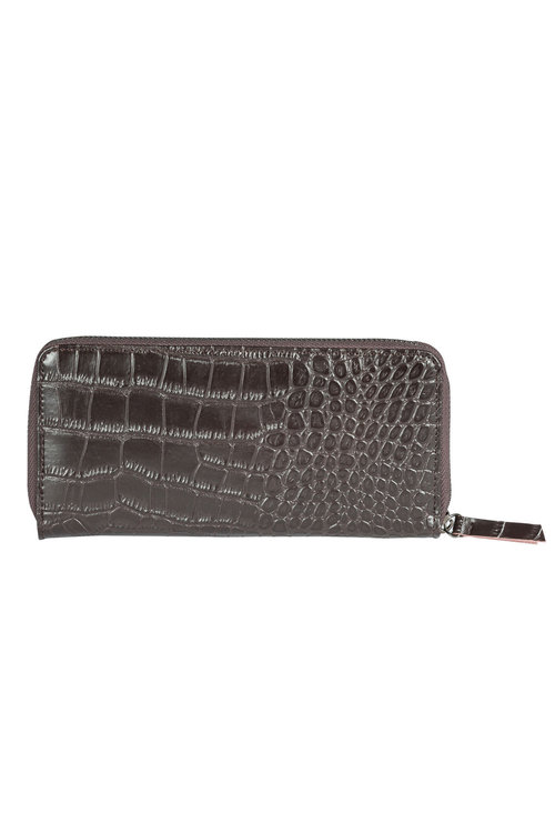 Leather Embossed Croco Wallet