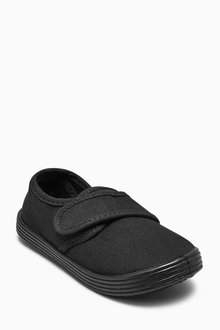 Next Black Plimsolls (Older Boys)