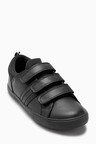 Next Black Triple Strap Shoes (Older Boys)