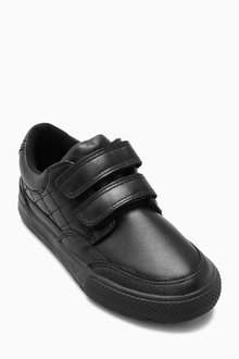 Next Black Leather Double Strap Shoes (Older Boys)