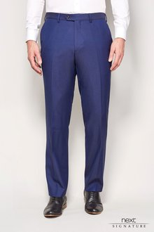 Next Blue Signature Suit Trousers -Tailored Fit