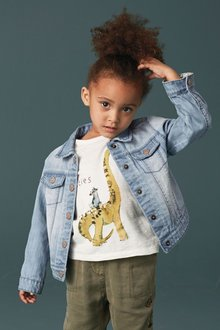 Next Mid Blue Denim Jacket (3mths-6yrs)
