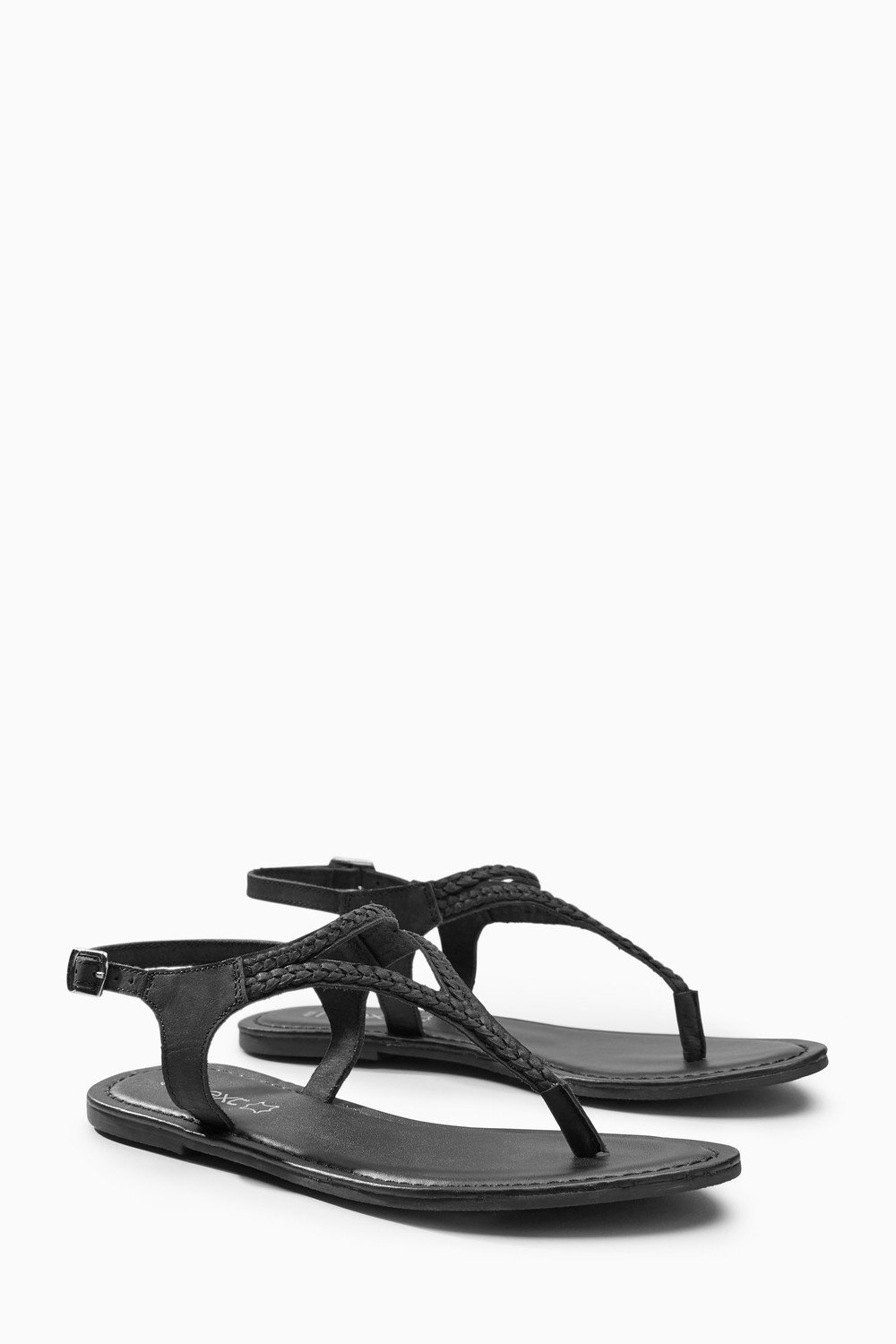 Next Leather Plait Toe Thong Sandals Online Shop Ezibuy