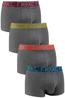 Next Charcoal Contrast Waistband Hipsters Four Pack