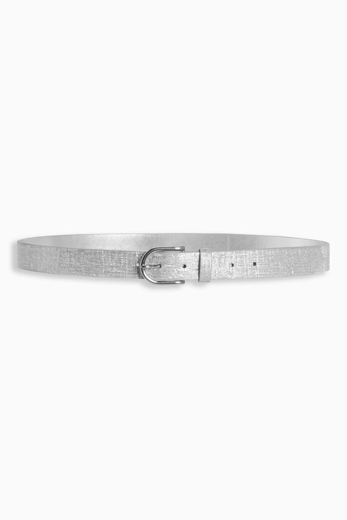 Next Silver Shimmer PU Belt