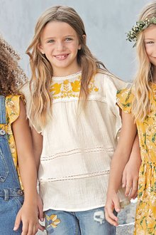 Next White Embroidered Blouse (3-16yrs)