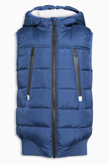 Next Navy Padded Gilet (3-16yrs)