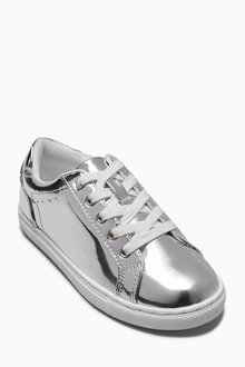 Next Silver Mirror Trainers (Older Girls)
