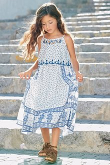 Next Multi Embroidered Maxi Dress (3-16yrs)