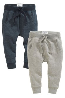 Next Navy/Grey Super Skinny Textured Joggers Two Pack (3mths-6yrs)