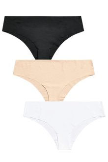 Next Black/White/Nude No VPL Brazilians Three Pack
