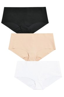 Next Black/White/Nude No VPL Shorts Three Pack