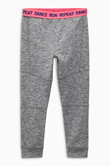 Next Grey Waistband Run Sporty Leggings (3-16yrs)