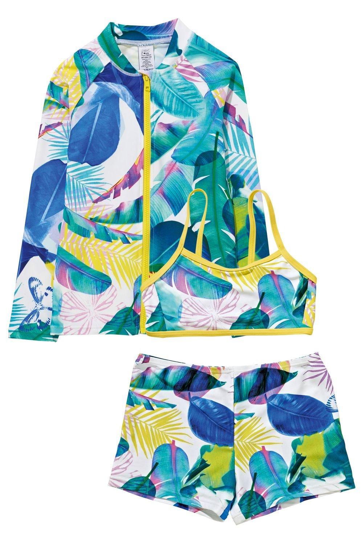 3e8f946d0aff4 Next Floral Three Piece Sunsafe Suit (3-16yrs) Online | Shop EziBuy