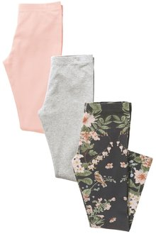 Next Printed/Grey/Pink Leggings Three Pack (3-16yrs)
