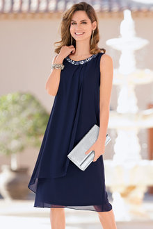 European Collection Drape Front Dress