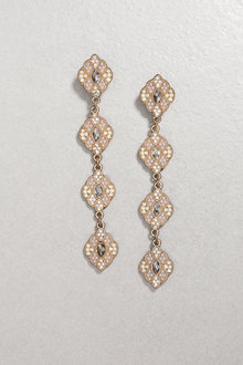 Next Gold Tone Vintage Effect Drop Earrings