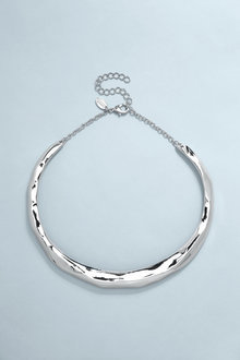 Next Silver Tone Organic Torque Necklace