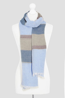 Next Blue/Neutral Stripe Scarf