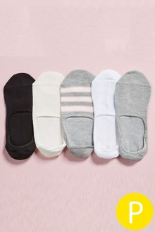 Next Mixed Invisible Trainer Socks Five Pack - 174536