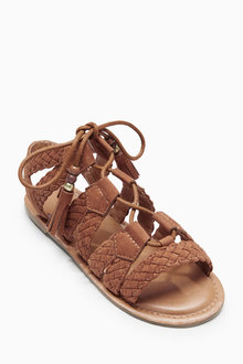 Next Ghillie Plaited Sandals (Older Girls)