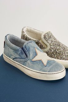Next Denim Star Skate Shoes (Older Girls)