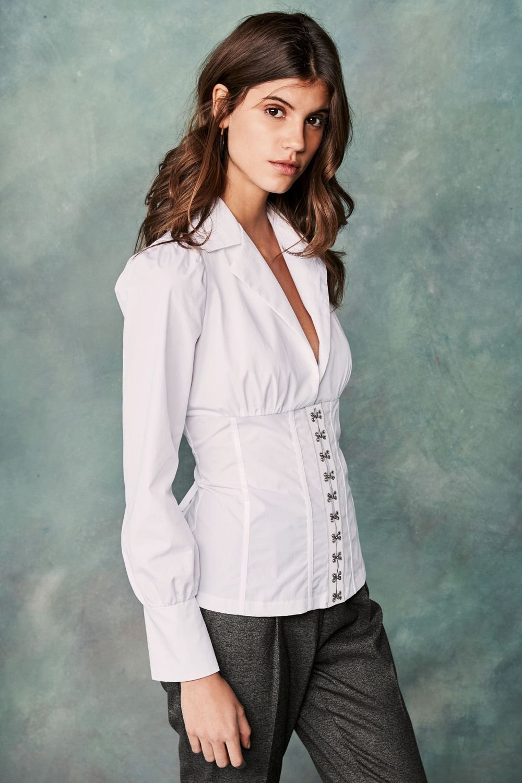 Next White Corset Shirt Online | Shop EziBuy