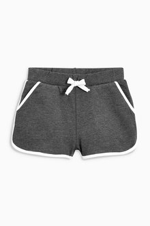 Next Charcoal Sport Trim Shorts (3-16yrs)
