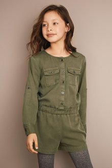 Next Khaki Tencel Playsuit (4-16yrs)